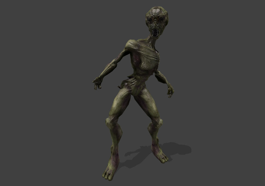 Alien- Game Ready royalty-free 3d model - Preview no. 23