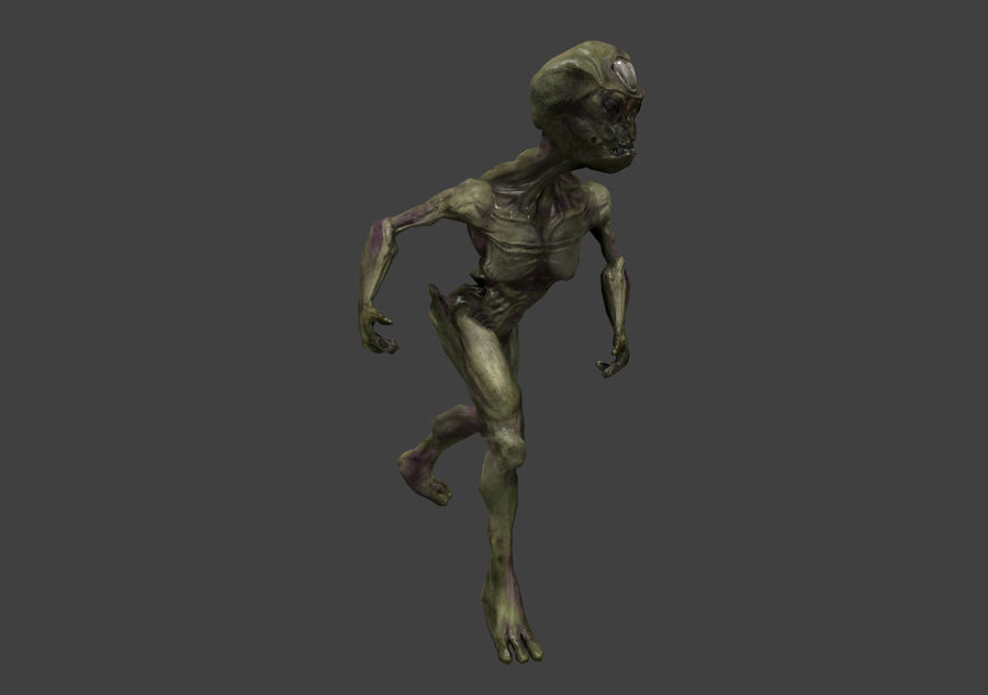 Alien- Game Ready royalty-free 3d model - Preview no. 40