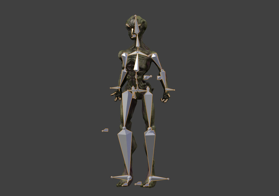 Alien- Game Ready royalty-free 3d model - Preview no. 35