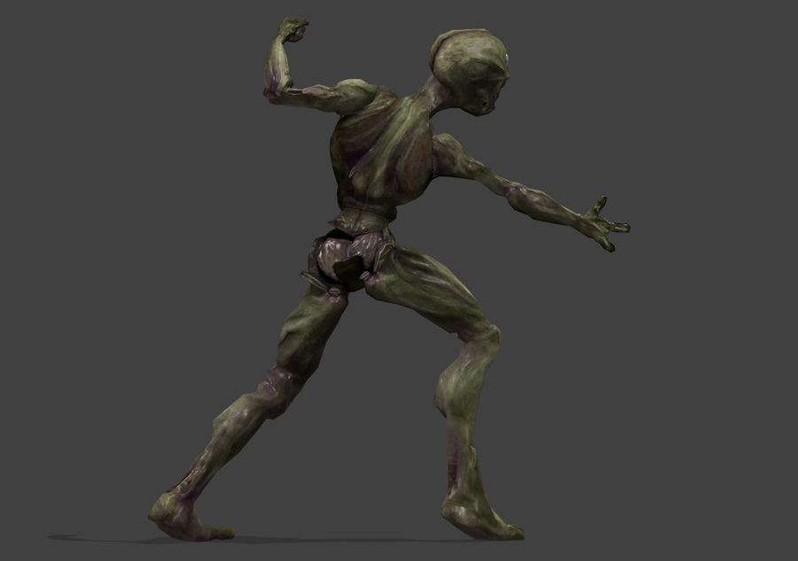 Alien- Game Ready royalty-free 3d model - Preview no. 38