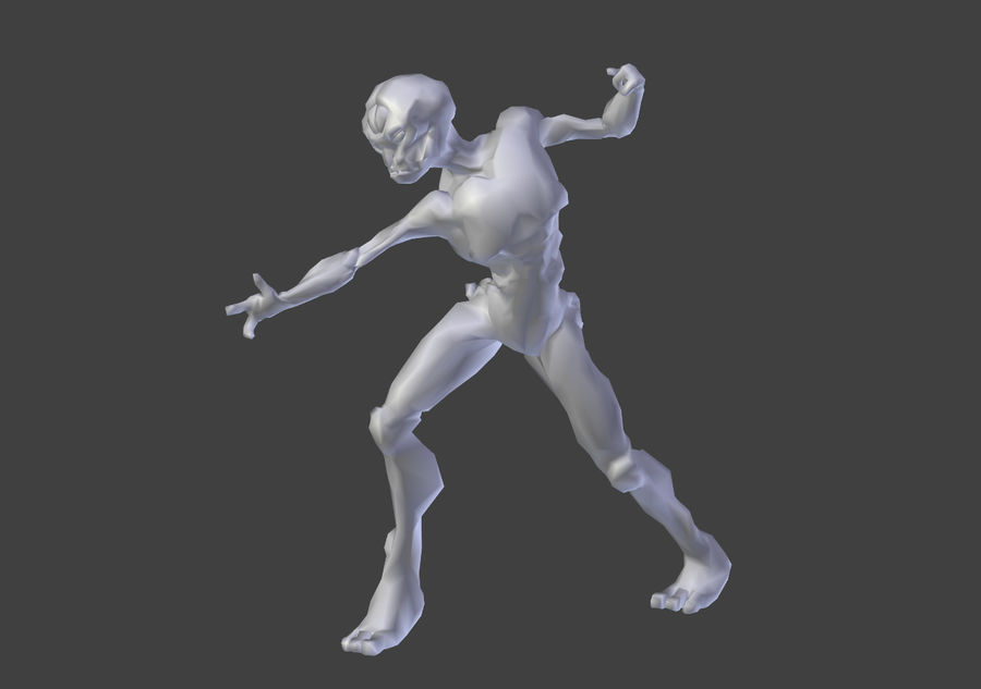 Alien- Game Ready royalty-free 3d model - Preview no. 4