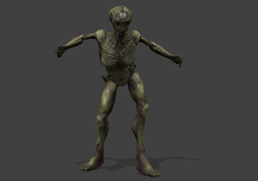 Alien- Game Ready royalty-free 3d model - Preview no. 16