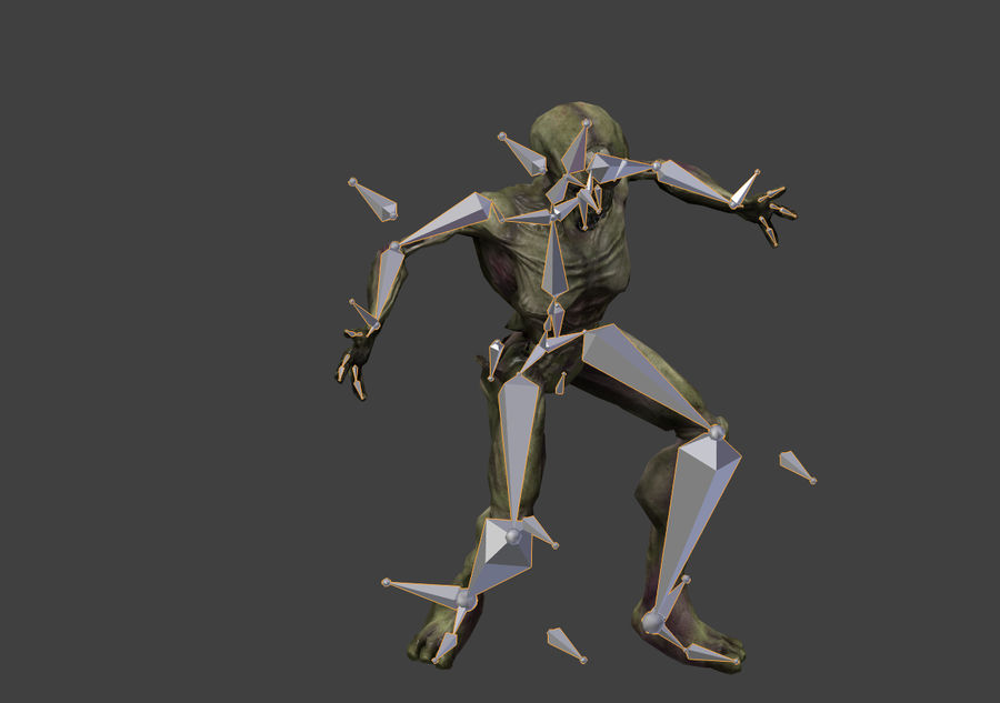 Alien- Game Ready royalty-free 3d model - Preview no. 30