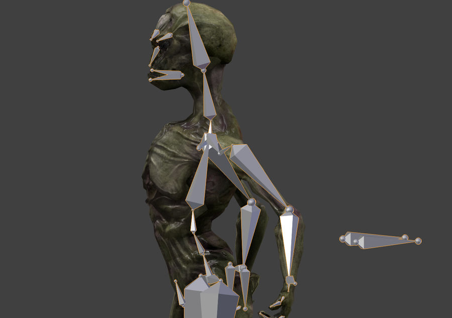 Alien- Game Ready royalty-free 3d model - Preview no. 34