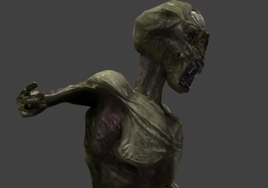 Alien- Game Ready royalty-free 3d model - Preview no. 8