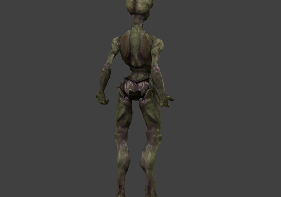 Alien- Game Ready royalty-free 3d model - Preview no. 36