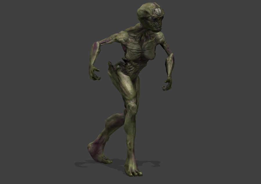 Alien- Game Ready royalty-free 3d model - Preview no. 25