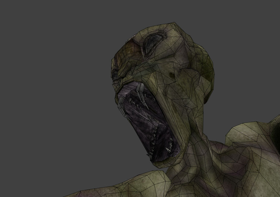 Alien- Game Ready royalty-free 3d model - Preview no. 7