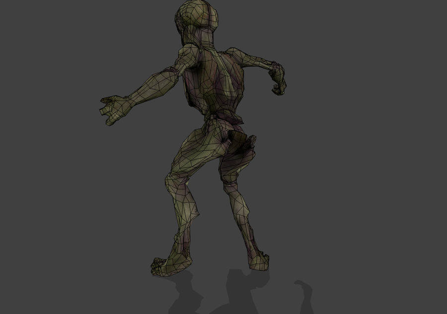 Alien- Game Ready royalty-free 3d model - Preview no. 39