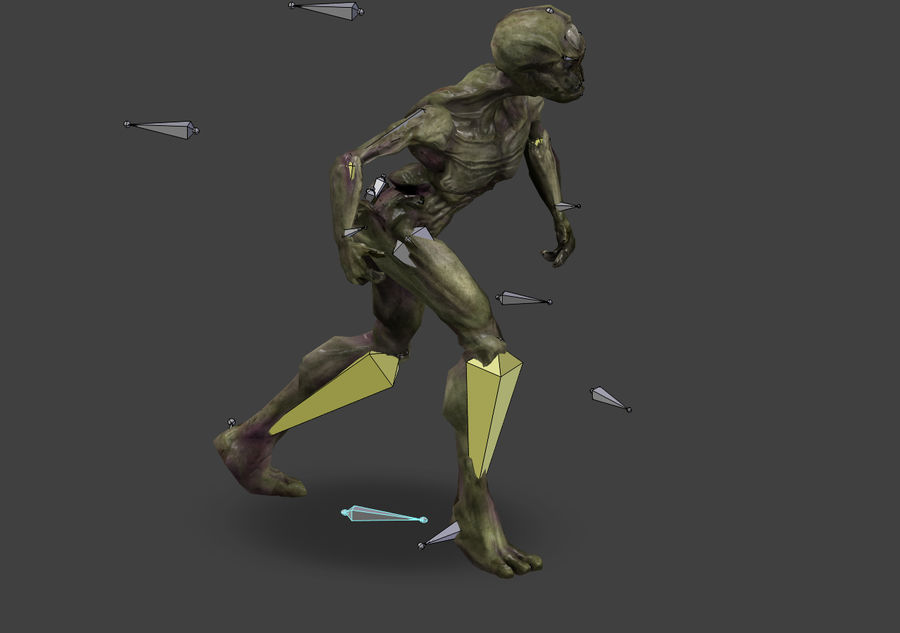 Alien- Game Ready royalty-free 3d model - Preview no. 20