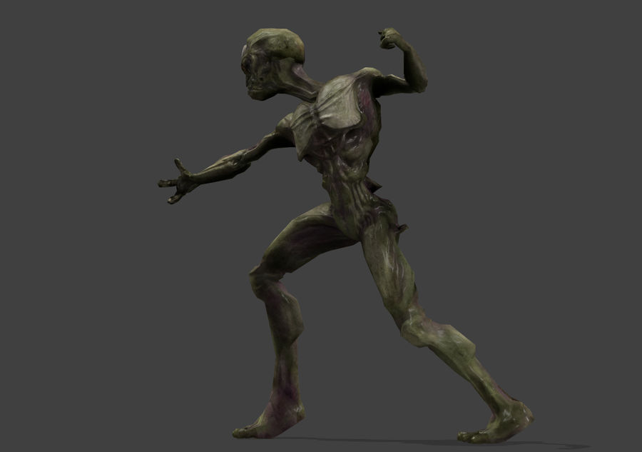 Alien- Game Ready royalty-free 3d model - Preview no. 5