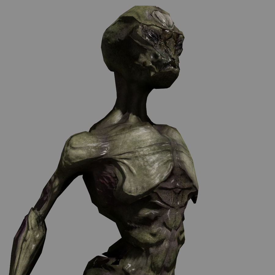 Alien- Game Ready royalty-free 3d model - Preview no. 1