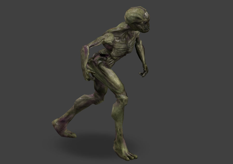 Alien- Game Ready royalty-free 3d model - Preview no. 21