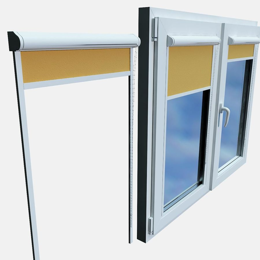 panjurlu pencere kapağı royalty-free 3d model - Preview no. 7
