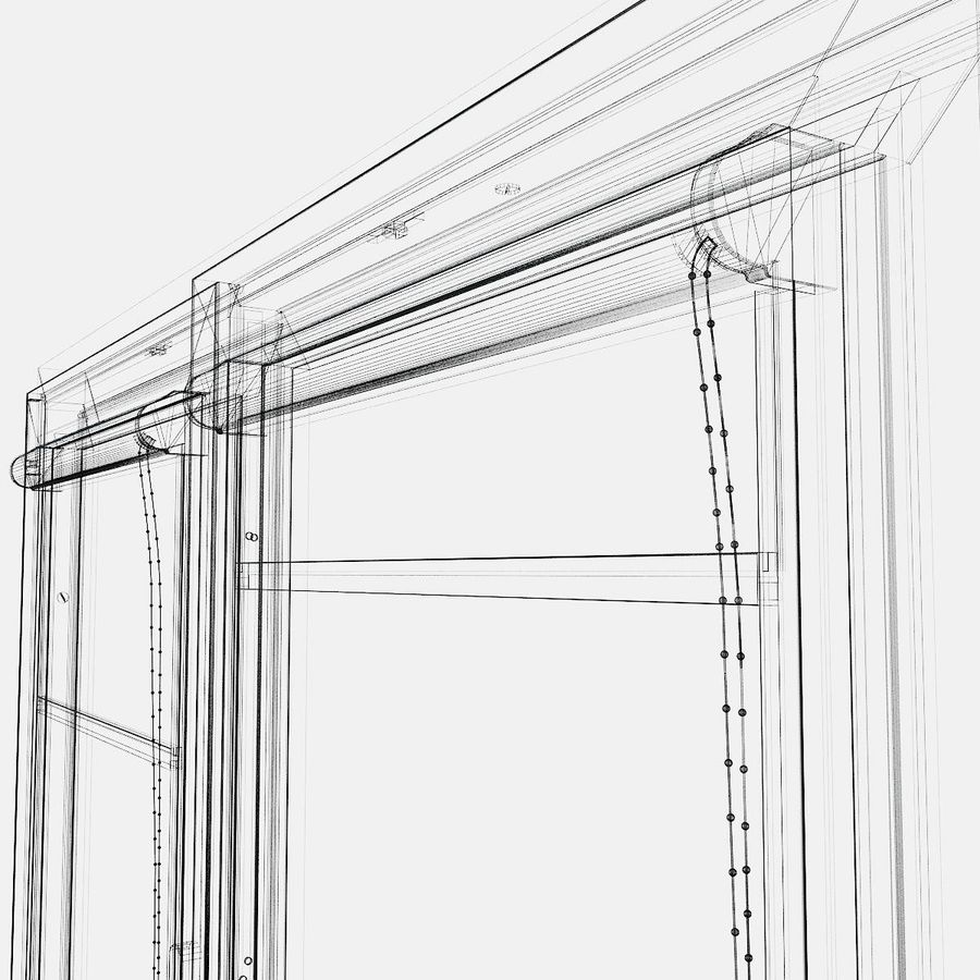 panjurlu pencere kapağı royalty-free 3d model - Preview no. 6