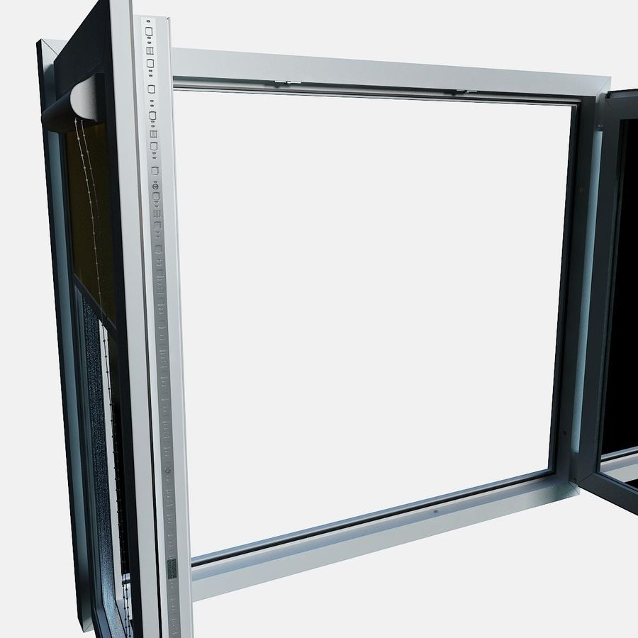 panjurlu pencere kapağı royalty-free 3d model - Preview no. 11