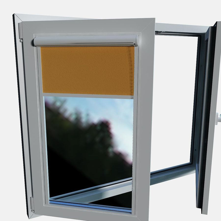 panjurlu pencere kapağı royalty-free 3d model - Preview no. 10
