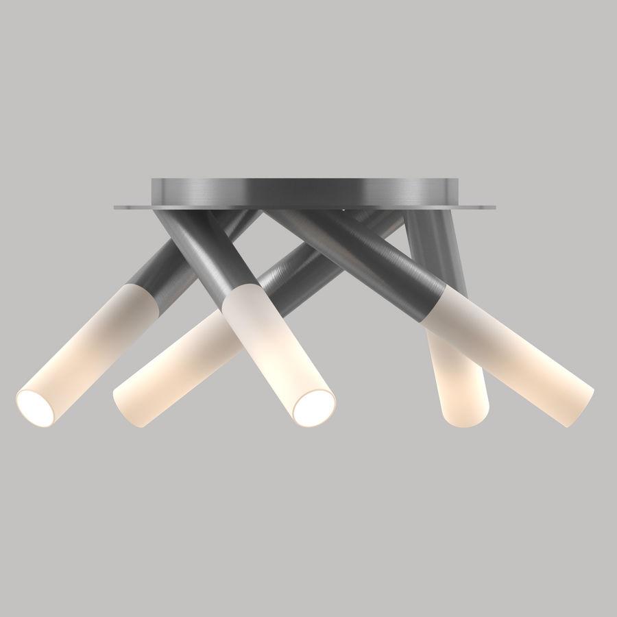 lampa sufitowa - nowoczesna lampa sufitowa royalty-free 3d model - Preview no. 3