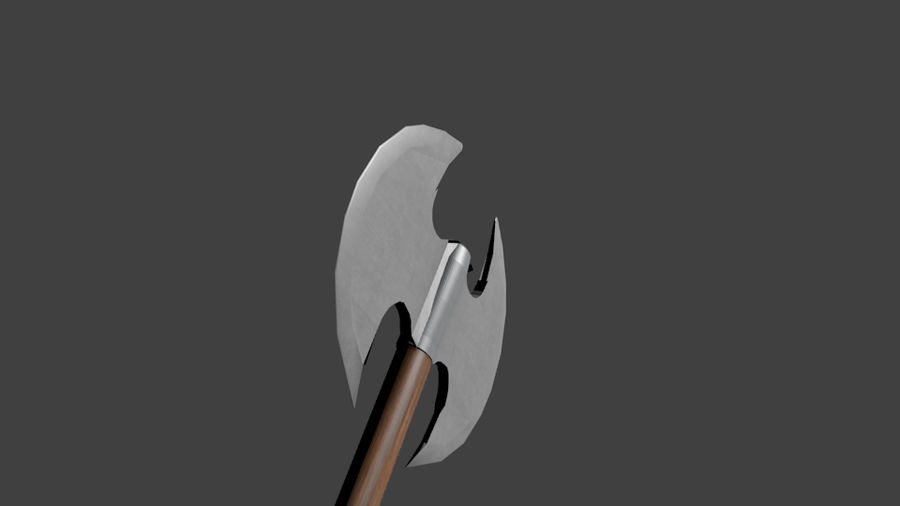 Medieval Battle Axe royalty-free 3d model - Preview no. 3