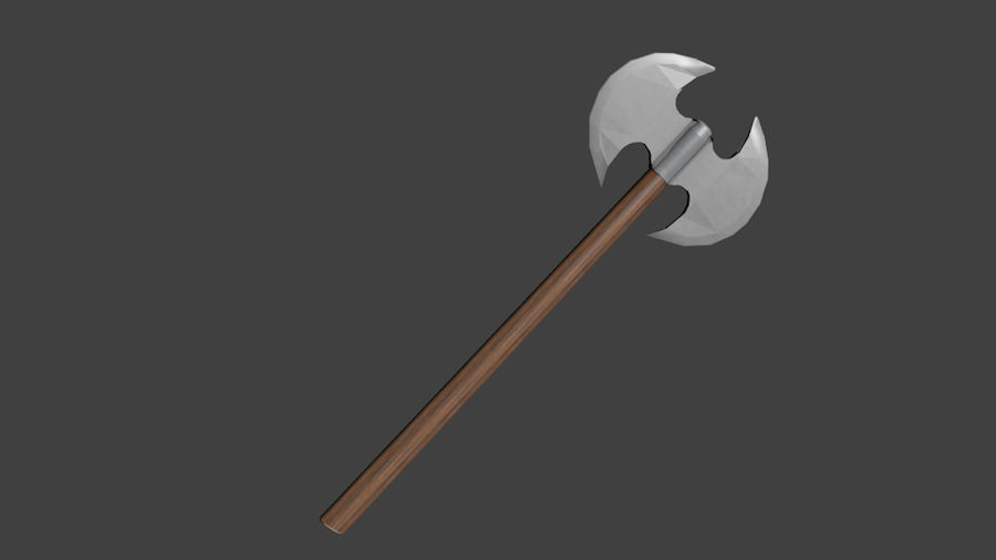 Medieval Battle Axe royalty-free 3d model - Preview no. 4