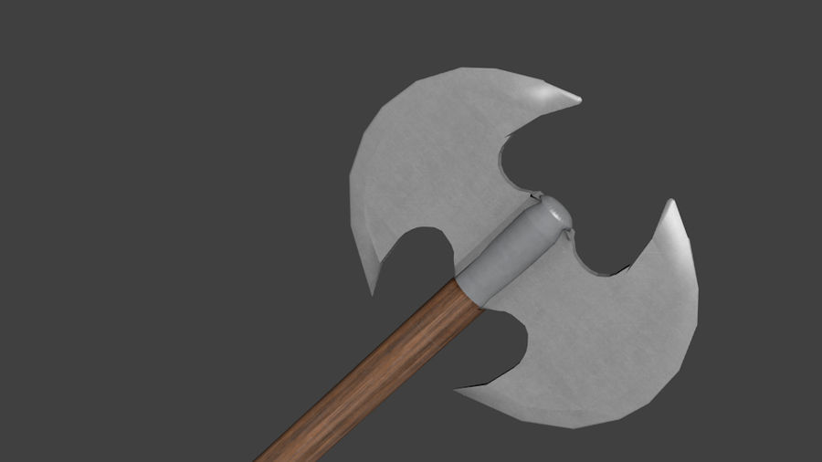 Medieval Battle Axe royalty-free 3d model - Preview no. 2