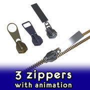 Zipper collection 3d model