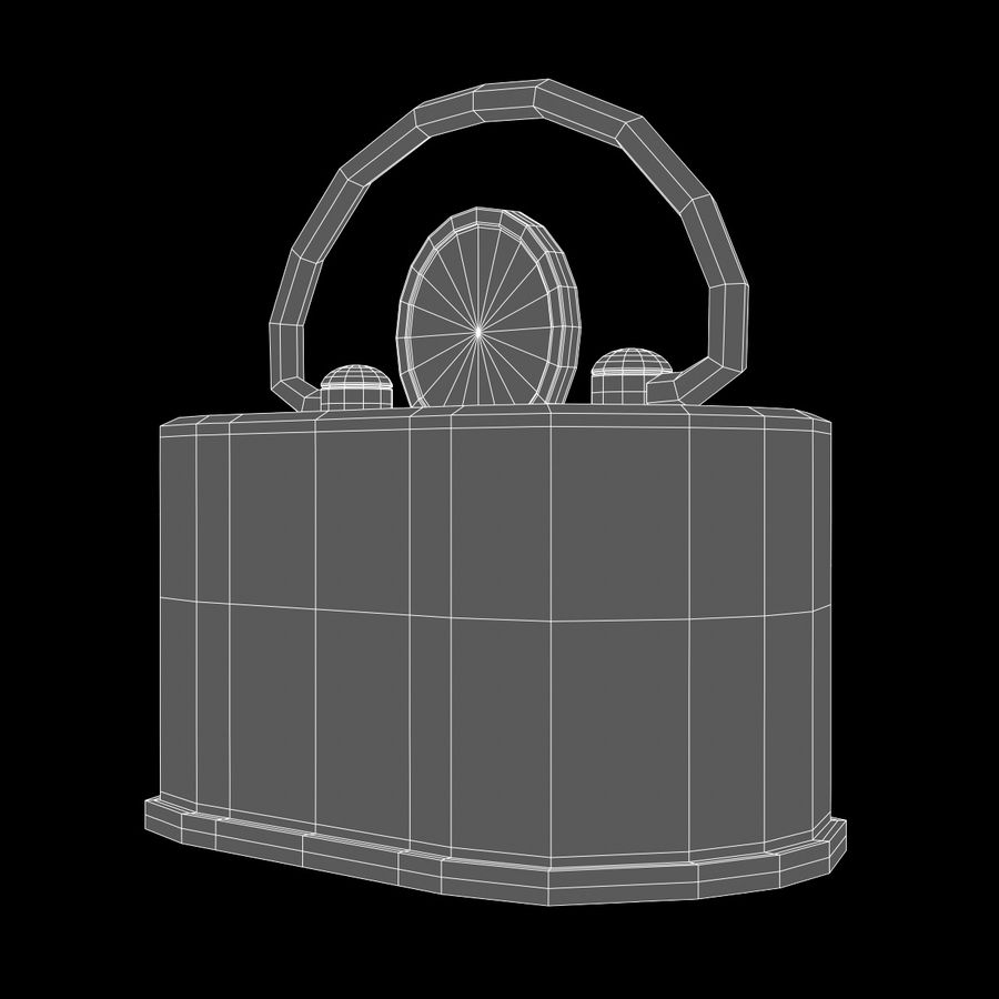 Skarbonka royalty-free 3d model - Preview no. 2