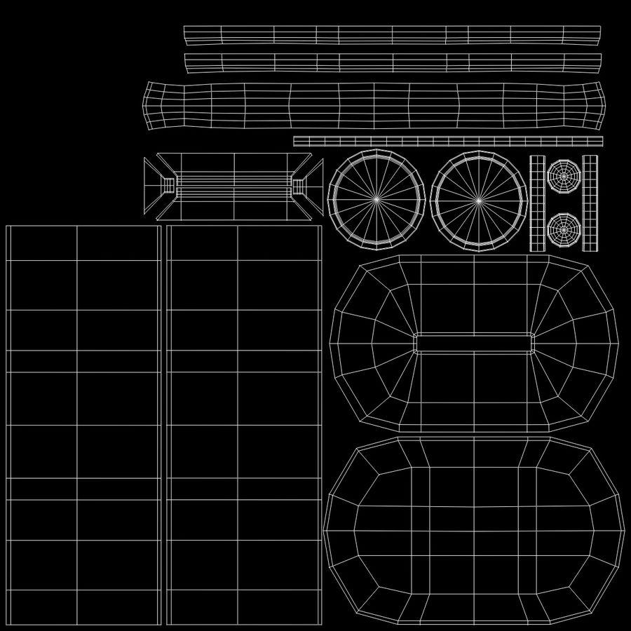 Skarbonka royalty-free 3d model - Preview no. 7