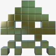 Space Invader Üç 3d model