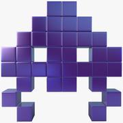 Space Invader Five 3d model