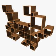 Prateleira Quadrada Aleatória 3d model