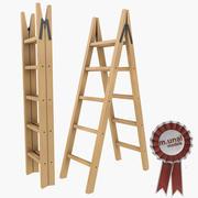 木製折りたたみはしご2 3d model