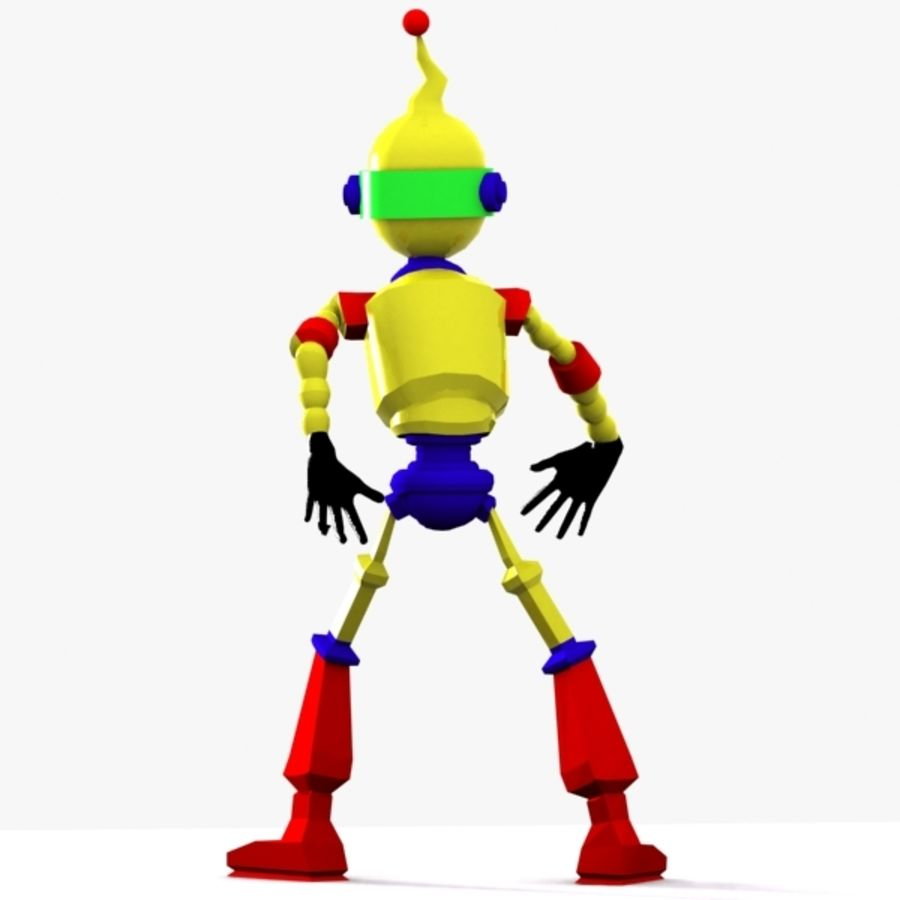 Rigged Robot Character royalty-free 3d model - Preview no. 4