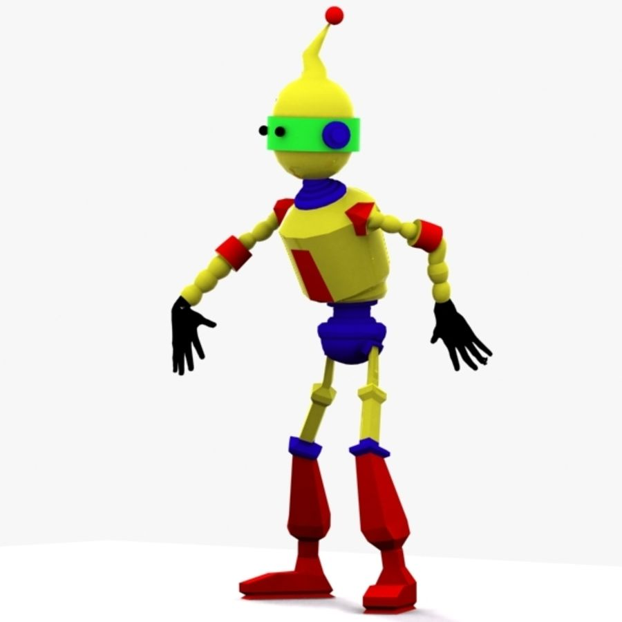 Rigged Robot Character royalty-free 3d model - Preview no. 5
