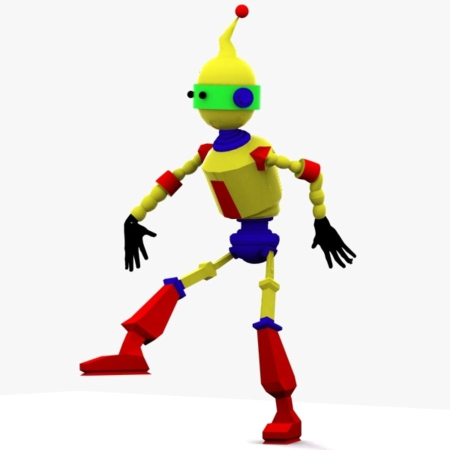 Rigged Robot Character royalty-free 3d model - Preview no. 7