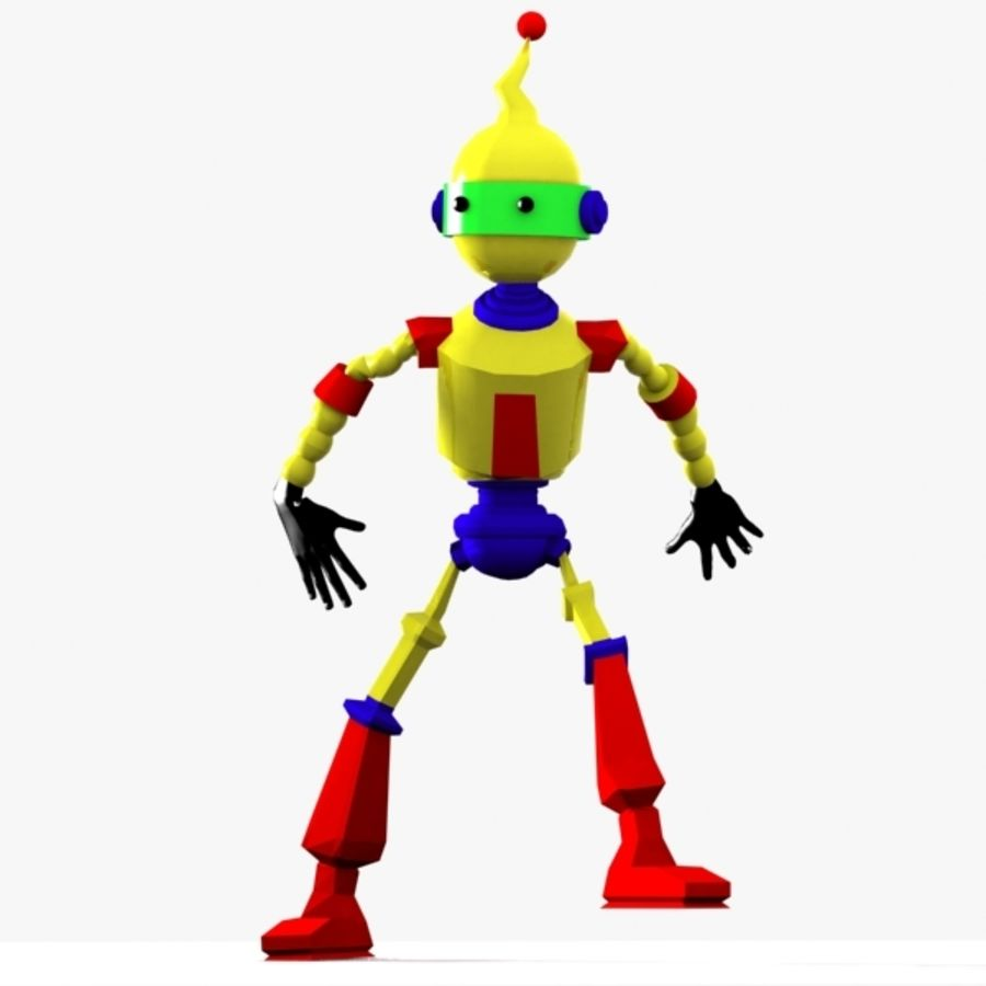 Rigged Robot Character royalty-free 3d model - Preview no. 8