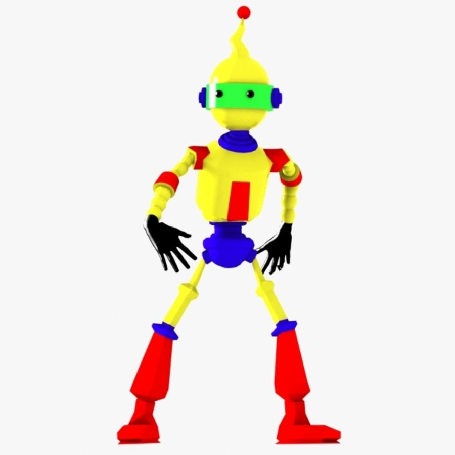 Rigged Robot Character royalty-free 3d model - Preview no. 1