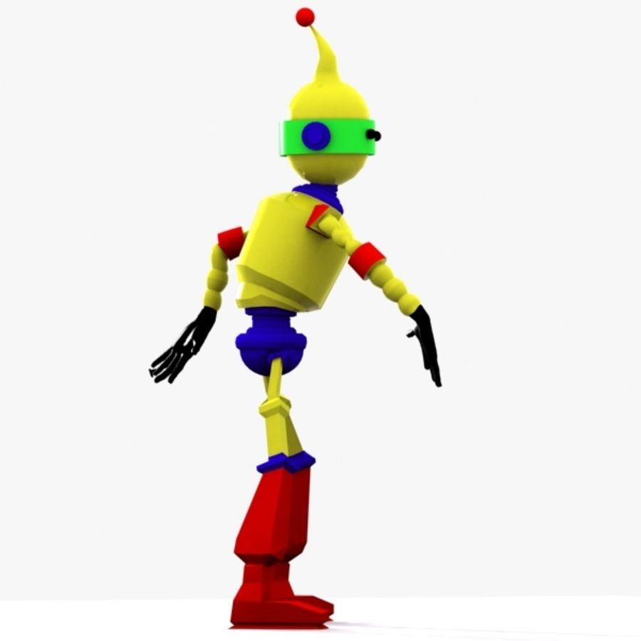Rigged Robot Character royalty-free 3d model - Preview no. 3