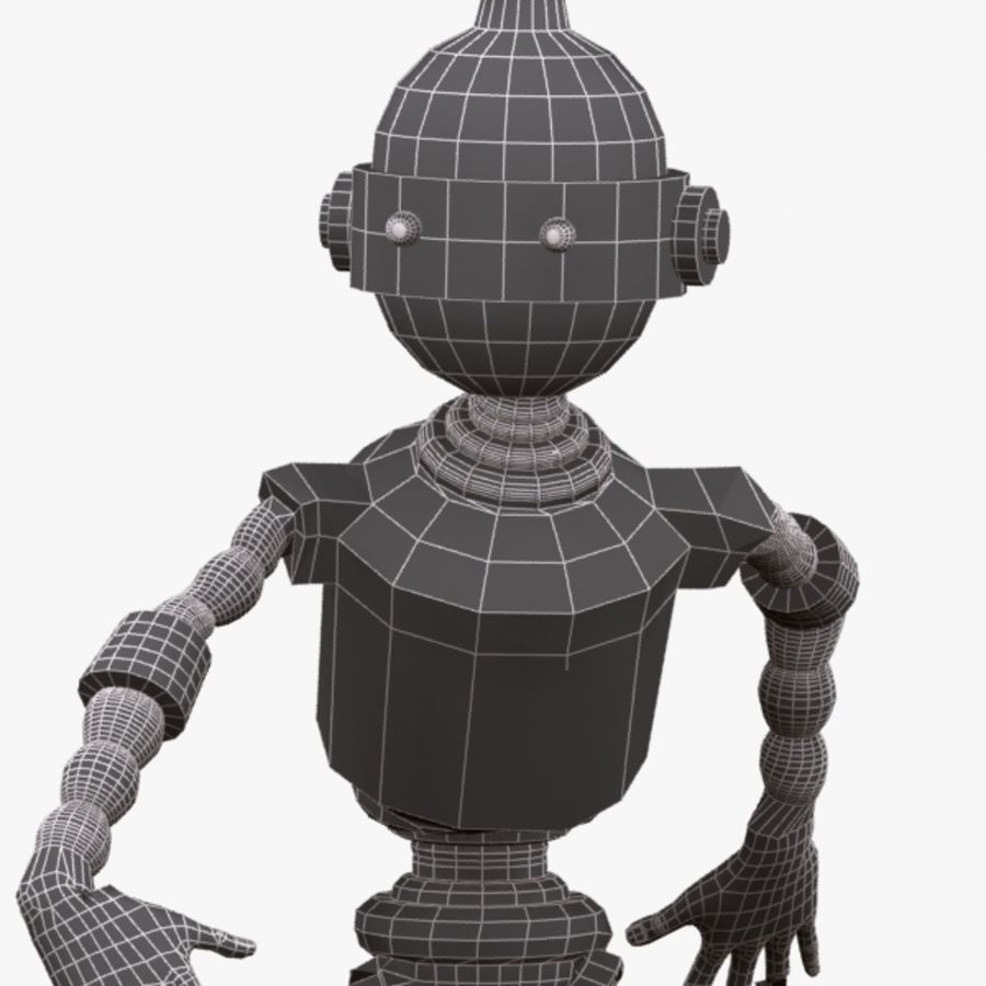 Rigged Robot Character royalty-free 3d model - Preview no. 12