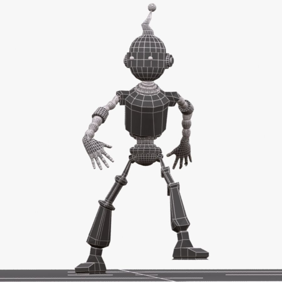 Rigged Robot Character royalty-free 3d model - Preview no. 9
