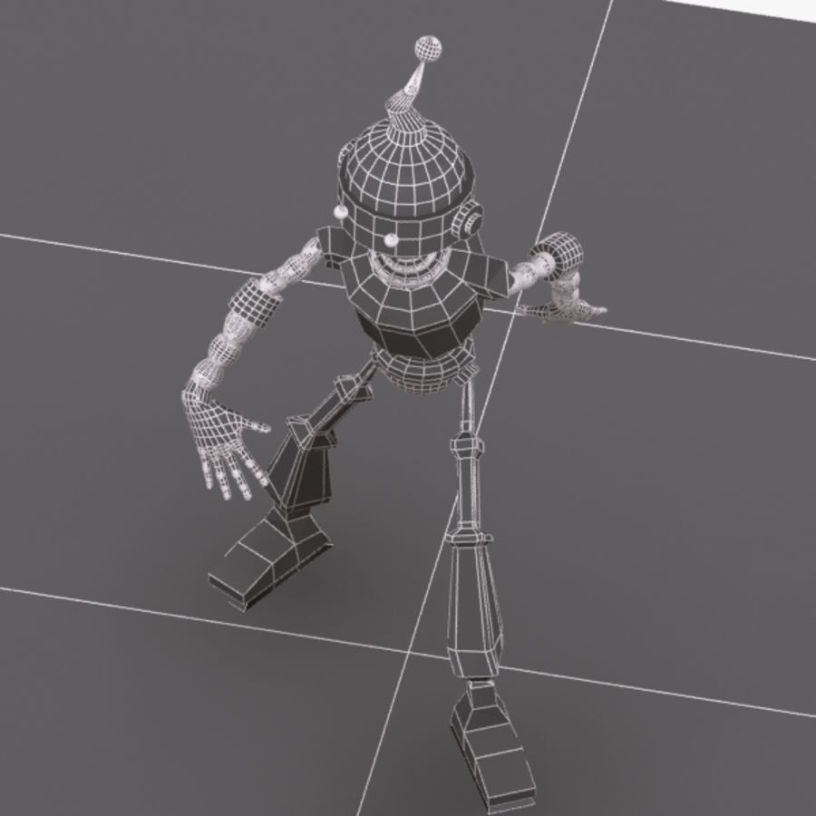 Rigged Robot Character royalty-free 3d model - Preview no. 11