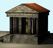 小さなローマ寺院 3d model