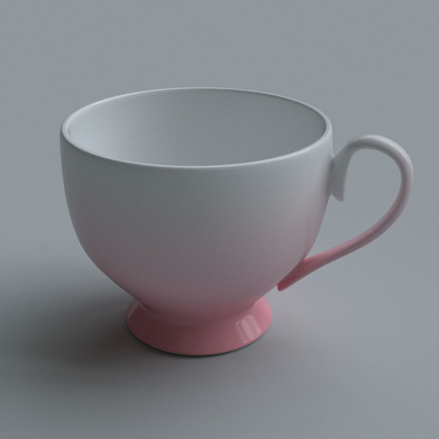 Coffee cups royalty-free 3d model - Preview no. 3