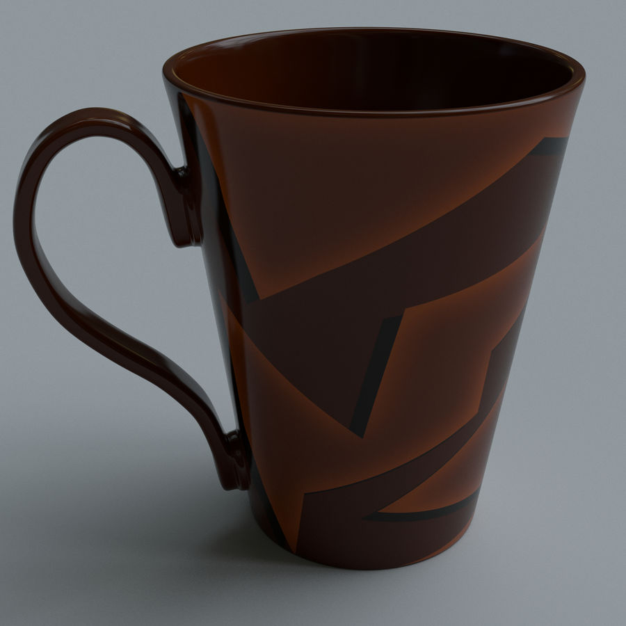 Coffee cups royalty-free 3d model - Preview no. 6