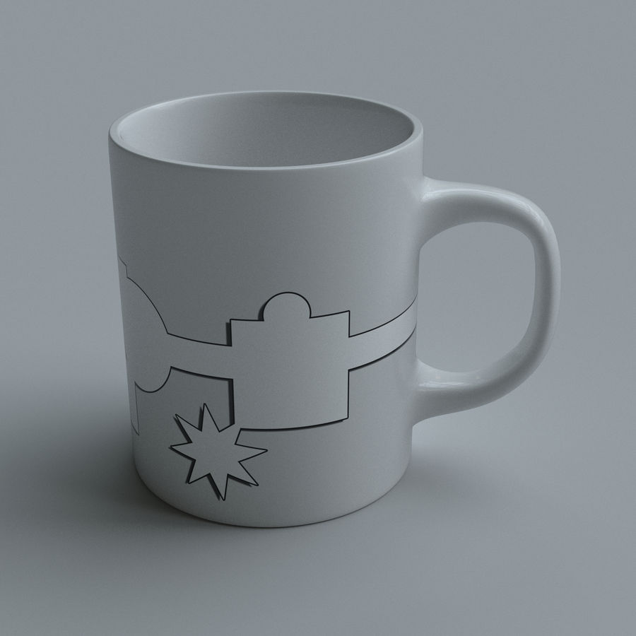 Coffee cups royalty-free 3d model - Preview no. 5