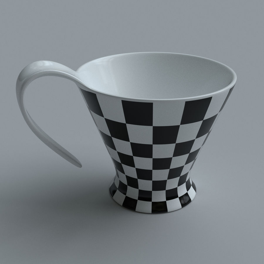 Coffee cups royalty-free 3d model - Preview no. 2