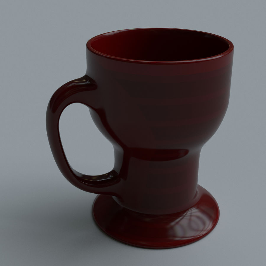 Coffee cups royalty-free 3d model - Preview no. 7