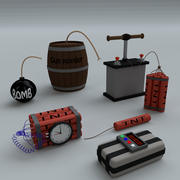 卡通炸弹 3d model