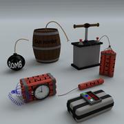 Cartoon Bombs 3d model