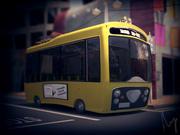 만화 시내 버스 3d model